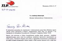 TLP rekomenduje ministrowi Adamczykowi