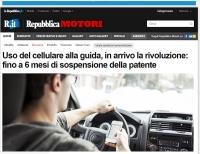 Telefon podczas jazdy = 6. miesięcy bez prawa jazdy