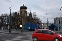 Dzisiaj na Pradze-Północ. Tu Cerkiew, przed nią skwer i wejście do metra