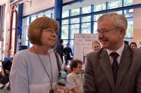 Bożenna Chlabicz, prezes Fundacji ZWD oraz Tomasz Matuszewski, rzecznik Instruktorów i Wykładowców