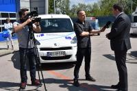 Dyrektor ITS, Marcin Ślęzak udziela wywiadu