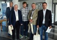 (od lewej) Dawid Kopacz, Marek Górny, Michał Trzaska, Ryszard Mazurek, Kamil Pijanowski