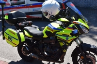 Motocykl ratunkowy jest alternatywą i pomocą dla ambulansu samochodowego
