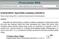 Wojewódzki Sąd Administracyjny w Gdańsku z dnia 15 września 2016 r. – sygn. akt III SA/Gd 553/16