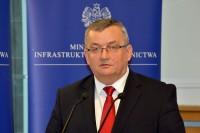 Andrzej Adamczyk, minister infrastruktury i budownictwa (Warszawa, 2.2.2017)