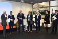 """Paneliści konferencji """"Bezpieczeństwo pasażerów w transporcie zbiorowym"""" (Nadarzyn, 22.3.2017)"""