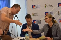 Beata Lewandowska, Jakub Szadkowski oraz Krzysztof Klejna