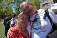 Już bez stresu organizacyjnego: Maria Krzysztoporska oraz Radosław Potrak (Szkoła Podstawowa 30)