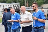 Konkurencje zakończone. Prezes OIGOSK Roman Stencel i jego zawodnicy w drodze po kaszaneczkę