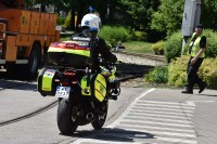 Pomocy udzielał także ratownik z ambulansu motocyklowego