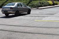 Test zderzeniowy samochodu osobowego z tramwajem (22.6.2017)