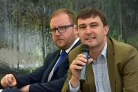 Konrad Romik, sekretarz KRBRD, Bartłomiej Morzycki, prezes Partnerstwa dla Bezpieczeństwa Drogowego
