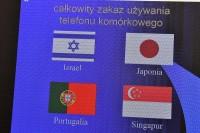 Całkowity zakaz korzystania z telefonów w: Izraelu, Japonii, Portugalii i Singapurze