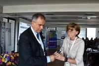 B. Oleksiak oraz Bożenna Chlabicz, prezes Fundacji Zapobieganie Wypadkom Drogowym