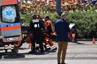 Wyjątkową atrakcją była symulacja zderzenia samochodu osobowego i tramwaju