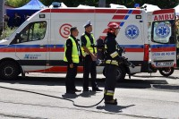 Jeszcze chwila i policjanci będą mogli przystąpić do swoich zadań na miejscu wypadku