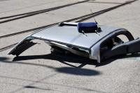 Dach pojazdu odcięty