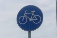Znak drogowy - Droga dla rowerów. (Galeria fot. Jan Szumiał)
