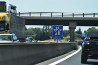 I już koniec autostrady. Zaraz przemieścimy się na kolejną. (Francja, sierpień 2017)