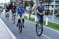 To popularne miejsce nie tylko spacerów, zabaw, imprez, ale także uprawiania sportów. Przez całą jej długość biegnie ścieżka rowerowa, na niej też biegacze, rolkarze, dekorolkarze itp.