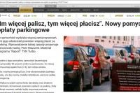 """TVN 24 BIS – """"Im więcej palisz, tym więcej płacisz"""". Nowy pomysł na opłaty parkingowe"""""""