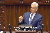 Sejm RP, 28.9.2017 r., poseł Cezary Grabarczyk