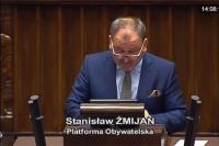 Sejm RP, 28.9.2017 r. Poseł Stanisław Żmijan