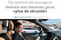 """""""Le Figaro"""" - Emmanuelle Oesterle. """"Un service de transport destiné aux femmes, pour «plus de sécurité»"""""""