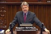 Sejm RP, 28.9.2017 r. Poseł Bogdan Rzońca