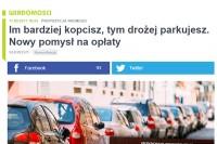 """TVN Warszawa – """"Im bardziej kopcisz, tym drożej parkujesz. Nowy pomysł na opłaty"""""""