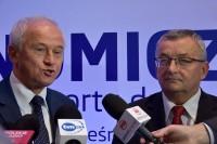 Minister energii Krzysztof Tchórzewski oraz minister infrastruktury i budownictwa Andrzej Adamczyk (fot. Jolanta Michasiewicz)