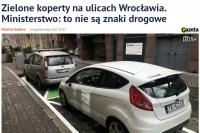 """""""Gazeta Wrocławska"""" - Malwina Gadawa: """"Zielone koperty na ulicach Wrocławia. Ministerstwo: to nie są znaki drogowe"""""""