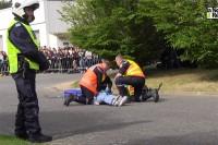Służby ratunkowe przy pracy