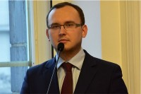 Szymon Huptyś, rzecznik prasowy Ministerstwo Infrastruktury i Budownictwa (fot. Jolanta Michasiewicz)