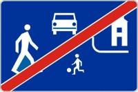 """Znak drogowy D-41 """"Koniec strefy zamieszkania"""""""