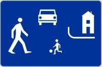 """Znak drogowy D-40 """"Strefa zamieszkania"""""""