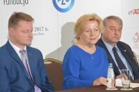 Spotkanie prasowe, 8.11.2017 r. Organizatorzy konferencji: Przemysłowy Instytut Motoryzacji (PIMOT), Centralny Instytut Ochrony Pracy - Państwowy Instytut Badawczy (CIOP-PIB) i Stowarzyszenie Pomocy Niepełnosprawnym Kierowcom (SPINKA)