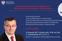 Konferencja prasowa w Ministerstwie Infrastruktury i Budownictwa, Warszawa 15.11.2017 (fot. Jolanta Michasiewicz, grafika MIB)