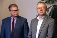 Witold Wiśniewski, Koordynator Polskiego Klastra Edukacyjnego oraz Tomasz Matuszewski, Starosta Gostyniński