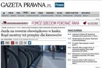 """""""Gazeta Prawna"""" - Tomasz Żółciak: """"Jazda na rowerze obowiązkowo w kasku. Rząd zaostrzy też przepisy dla kierowców"""""""