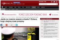 """FORSAL pl - """"Jazda na rowerze zawsze w kasku? Zobacz, kogo obejmą nowe przepisy"""""""