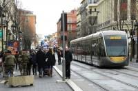 Nicea, linia tramwajowa nr 1, przystanek Jean Medecin (26.2.2018)