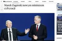 """""""Rzeczpospolita"""" - Michał Kolanko: """"Marek Zagórski nowym ministrem cyfryzacji"""" (29.3.2018)"""