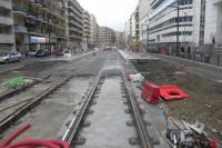 W grudniu 2017 r. położono pierwsze tory tramwajowe.