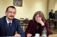 Uczestnicy konferencji, Włocławek 28.2.2018 r. Kuluarowa wymiana doświadczeń.