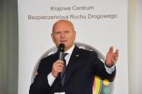 """Konferencja pt. """"Bezpieczeństwo pieszych - zagrożenia i wyzwania"""". Jacek Zalewski, prezes Krajowego Centrum BRD."""