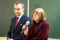 Inicjatorzy konferencji: Jarosław Chmielewski, dyrektor WORD oraz Bożenna Chlabicz, prezes zarządu Fundacji Zapobieganie Wypadkom Drogowym