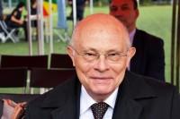 Goście Praskiego Konkursu Szkół Podstawowych Prawobrzeżnej Warszawy, senator RP Marek Borowski