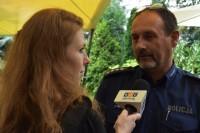 Asp. szt. Robert Niedbałko (Wydział Ruchu Drogowego Komendy Stołecznej Policji), udziela wywiadu