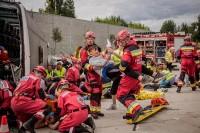Warszawa, 13.6.2018. Na terenie przy ul. Księcia Ziemowita 29 odbyły się ćwiczenia z ratowania ofiar katastrofy drogowej